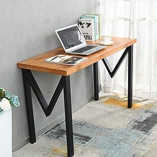 2 件套工业桌腿家具腿重型办公桌腿电脑桌腿 DIY 桌面配件黑色(高:71.12 厘米,宽:44.88 厘米,M 形)