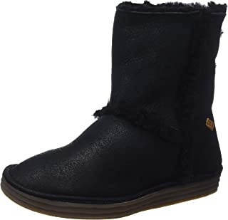 El Naturalista 女士 N5054 Doble FAZ-Lux 麂皮黑色/米饭场休闲靴