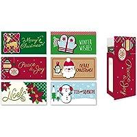 """各种假日礼品卡/钱夹卡,一套 6 个圣诞节钱夹 3.5"""" W x 7"""" H 6.00"""