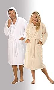 Opal 0482100009 Dyckhoff 1x 浴衣带帽,尺寸 S 009,白色