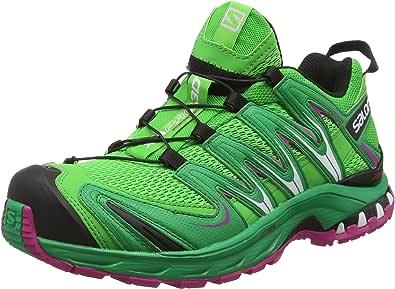 Salomon Xa Pro 3D, Women Trail Running Shoes Green (Peppermint/Green/Deep Dalhia) 6 UK