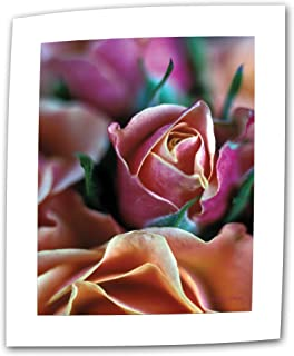 Art Wall Mauve and Peach Roses 24 by 36-Inch Flat/Rolled Canvas by Kathy Yates with 2-Inch Accent Border