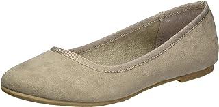 tamaris 女式22151闭趾芭蕾平底鞋 Brown (Pepper 324) 5 UK