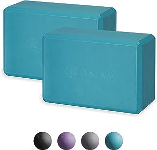 Gaiam 瑜伽砖(2 件套)- 支撑无乳胶 EVA 泡沫柔软防滑表面,适合瑜伽,普拉提,冥想 艳蓝色
