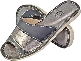 Reindeer Leather 女式真皮室内拖鞋女式拖鞋