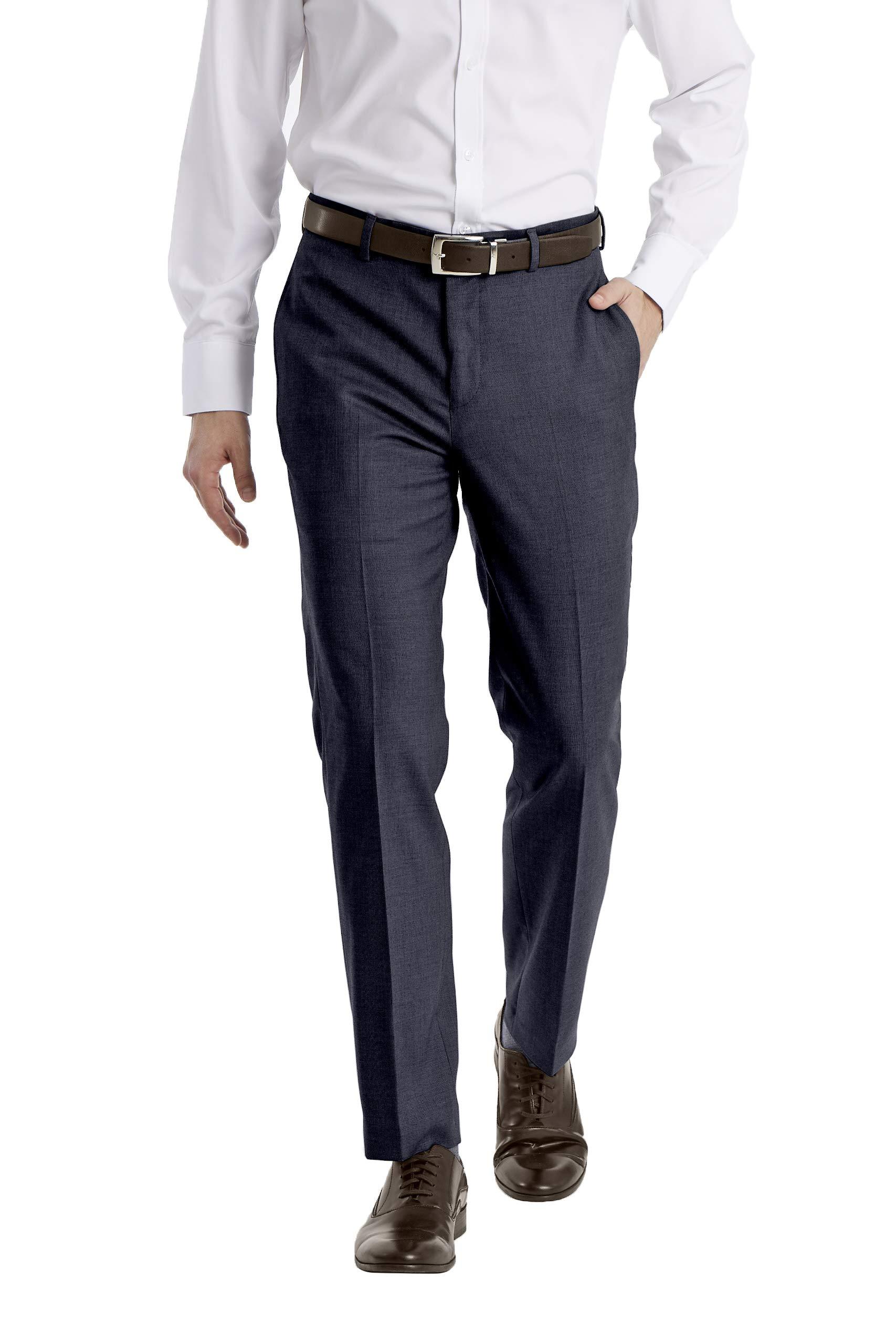 Calvin Klein 卡尔文·克莱恩 男式 X Performance 修身无褶正装长裤