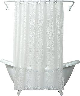 ZPC Zenith Products Corporation 印度墨水摩洛哥皮瓦浴帘内衬 白色 146194232Z