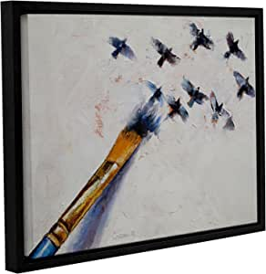 """ArtWall Michael Creese's Birds Gallery Wrapped Floater Framed Canvas, 18 by 24"""""""
