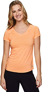 RBX 活跃女式太空染色短袖 V 领 T 恤