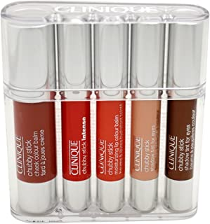 Clinique Women's Chubby Sticks for Cheeks, Eyes and Lips Set, 5 Count