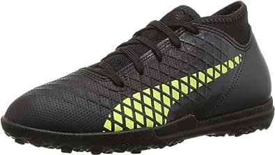 PUMA 彪马 Future 18.4 Tt 足球鞋 黑色(Puma) -黄色 (fizzy) - 灰黑色(asphalt) 5.5 M US 儿童