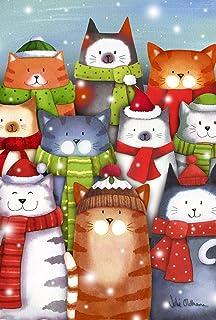 托兰家庭花园猫卡罗来 31.75 x 45.72 cm 装饰彩色冬季 小猫圣诞 Carol Singing Garden 旗帜