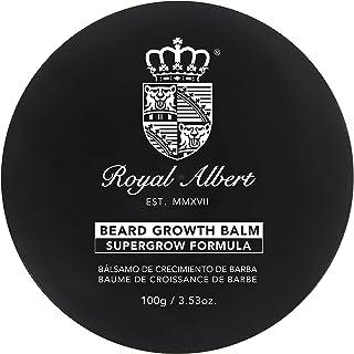 Royal Albert – 胡子成长香膏 SuperGrow – 3.53盎司/100克 – 胡子香膏 – 更浓密的面部* – 生长 – 硫酸盐、对羟基苯甲酸酯和酒精 – 厚胡子 – 不含 Minoxidil