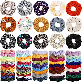 68 件发束,天鹅绒发弹力发带,发绳,女士或女孩发饰