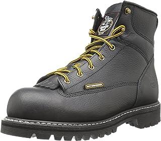Georgia Boot Steel Toe 防水系带到脚靴