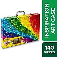 Crayola 繪兒樂 140件產品美術套裝,彩虹靈感美術盒,便攜式美術&涂色用品,兒童禮品,適合 5 歲、6 歲、7 歲、8 歲兒童