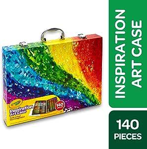 Crayola 绘儿乐 140件产品美术套装,彩虹灵感美术盒,便携式美术&涂色用品,儿童礼品,适合 5 岁、6 岁、7 岁、8 岁儿童