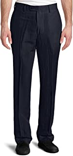 Louis Raphael Men's Modern-Fit Linen-Blend Flat-Front Dress Pant