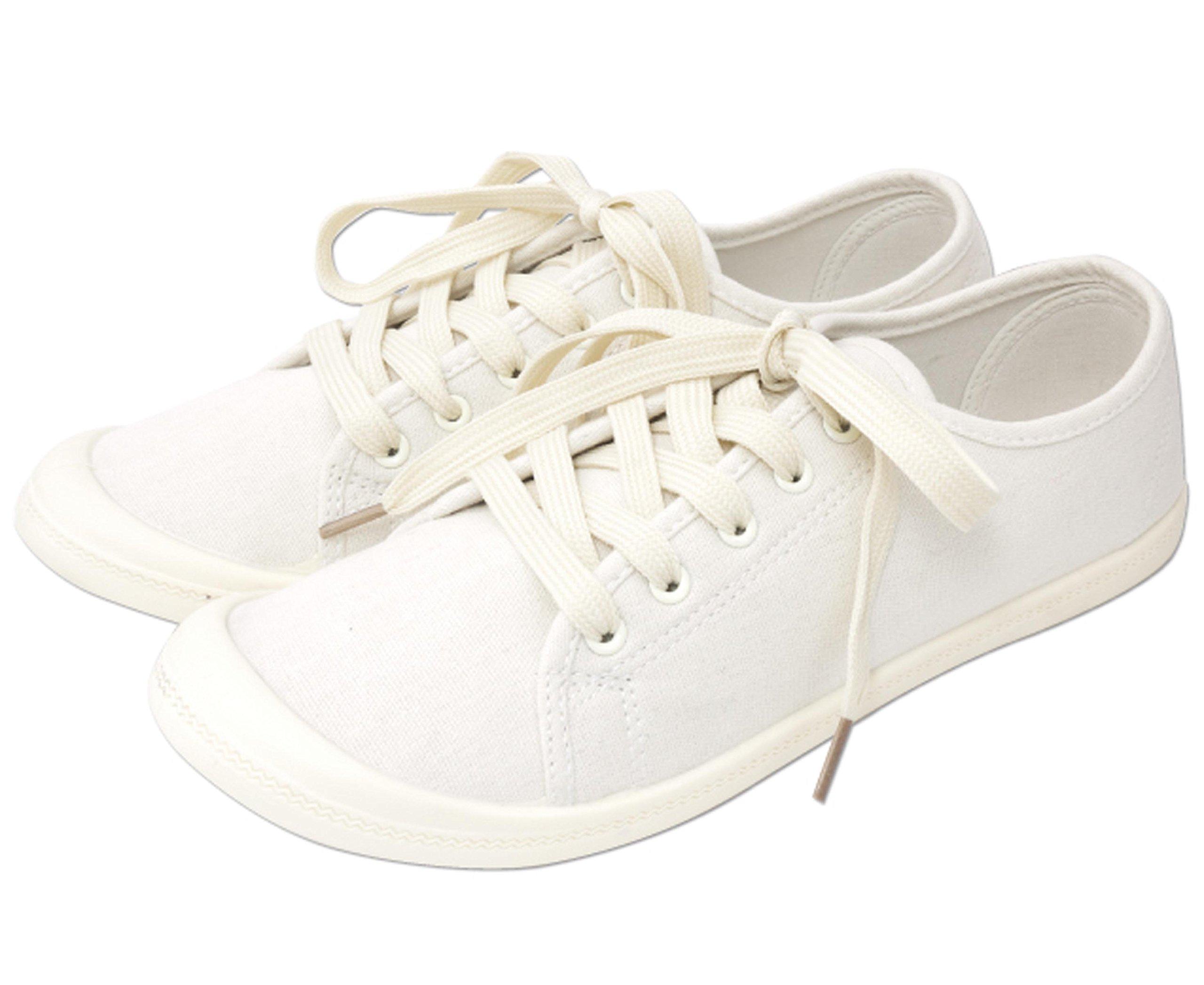 ZIP CORPORATION 女式轻便运动鞋 可爱 低帮 帆布 象牙色 M 23~24cm 81713