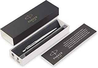 Parker Medium point Ballpoint Pen, Black and Chrome