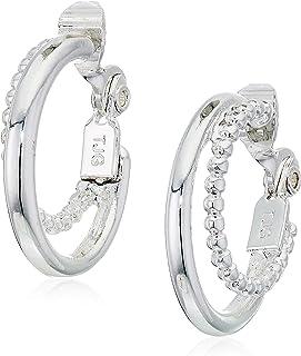Anne Klein 多环银色环状耳环