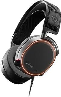 SteelSeries 赛睿 Arctis Pro电竞游戏耳机 - 高分辨率扬声器驱动器 - DTS耳机:适用于PC的X v2.0环绕声