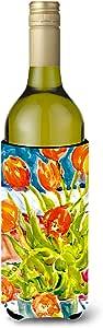 Flowers - Tulips Wine Bottle Beverage Insulator Beverage Insulator Hugger