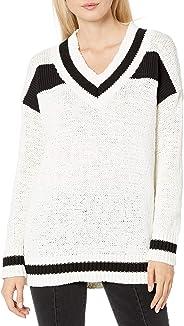Kendall + Kylie 女士 V 领橄榄球毛衣