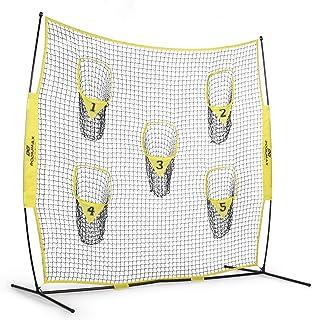 PodiuMax 便携式足球训练网,8 英尺 x 8 英尺投球网,提升QB投球准确度,五个靶子,包括手提袋