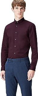 T 恤男式弹力修身正装长袖衬衫