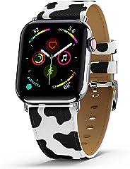 Wildflower 限量版苹果手表表带 - 兼容系列 4 和 5(40 毫米表壳)和系列 3(38 毫米表壳)WIL_MOOMB3840 38mm/40mm Case Moo Moo Moo