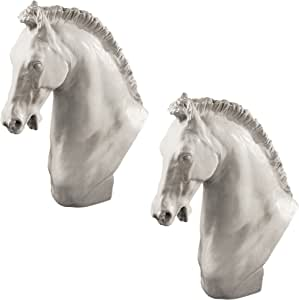 Design Toscano Horse of Turino Sculpture: Set of Two