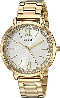 GUESS 金色不锈钢水晶手链腕表。 颜色:金色(型号:U1231L2)