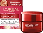 L'Oréal Paris 巴黎歐萊雅 復顏抗皺緊致滋潤霜 煥顏激活效果 針對疲倦肌膚和眼睛 Revitalift Rouge霜 50 ml