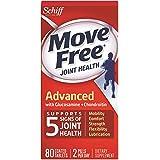 Move Free 维骨力联合补充剂 含氨基葡萄糖、软骨素和透明质酸 80 片