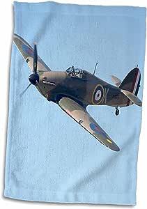 3D Rose Hawker Hurricane-British and Allied Wwii 战斗机 Plane-Au02 Dwa6007-David 壁挂手/运动毛巾 38.10 x 55.88 厘米