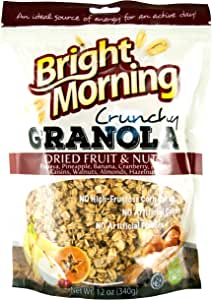 Bright Morning Dried Fruit/Nuts Granola, 12 Ounce (Pack of 10)
