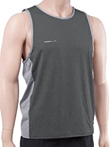 O'Neill Wetsuits UV Sun Protection Mens 24/7 Hybrid Tank Top Sun Shirt Graphite/cool grey (4877IS) 大