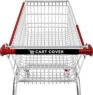 购物车罩 购物车把套 - 用于购物车和婴儿车把的防护罩 - 可水洗和可重复使用,柔软舒适的握感 - 17 英寸*助推器