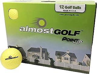 AG AlmostGolf 球 - 限量版飞行练习高尔夫球(12 只装)- 黄色
