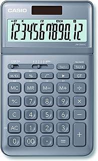 Casio 卡西欧 JW-200SC-GY 优雅台式计算器 12 位数 LCD 显示屏 带计算命令显示 七种颜色选择