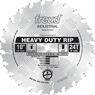 Freud LM72M010 Industrial Heavy Duty Rip Saw Blade 10-Inch by 24t Flat Top 5/8-Inch arbor Ice Coated