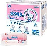 LEC 湿巾 手部和口部可用 80片×15包 (1200片)水分99.9%