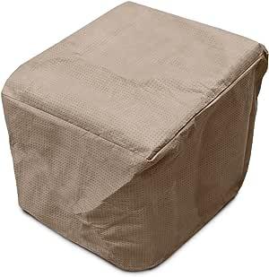 """KoverRoos KoverRoos III 灰褐色方形软垫凳/小桌套 26"""" L x 26"""" W x 16"""" H 棕色 36650"""