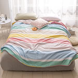 """J-pinno 卡通印花棉被单人床/全套儿童床上用品 21 Twin 59"""" X 78"""" BrainbowT"""