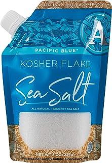 SaltWorks 古老海洋喜马拉雅粉色盐,精细,工匠倾倒袋,16盎司 Kosher Flake 8盎司