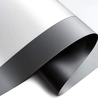 Yandood 投影机屏幕 DIY 材料 1424 英寸 色卡 黑色背衬 4K 超高清前投影 EPPE 材料样品白色/灰色 2 件装