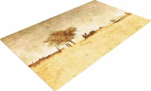 "KESS InHouse SC4019ADR02 Sylvia Coomes ""One Tree""棕色褐色编织地毯,10.16 厘米 X 15.24 厘米,"