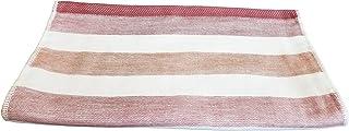IPPINKA 泉州毛巾,超柔软,快干,双色条纹,红色(手巾)