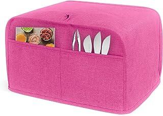 LUXJA 烤面包罩,烤面包罩,带 2 个口袋 粉红色 4 Slice (12.5 x 10 x 8 inches) LX12207